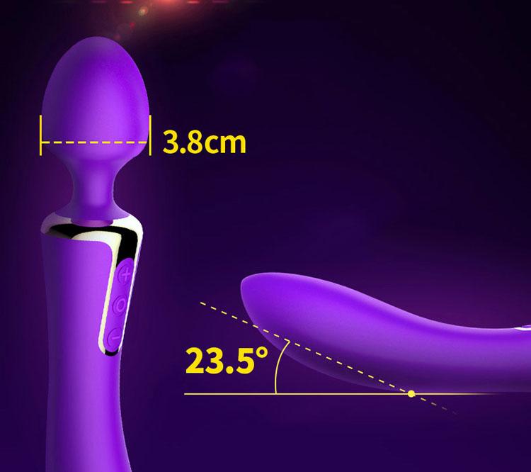 Kích thước chày rung 2 đầu cao cấp massage âm đạo